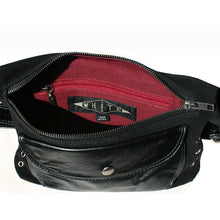 Load image into Gallery viewer, Black Suede & Leather Fanny Pack