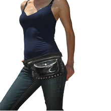 Load image into Gallery viewer, Olive Suede & Leather Fanny Pack