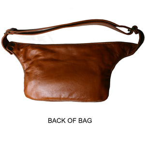 Cognac Suede & Leather Fanny Pack