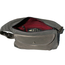 Load image into Gallery viewer, Grey Suede & Leather Fanny Pack