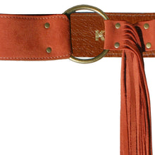 Load image into Gallery viewer, Fringe Belt -  Rusty Melon Suede
