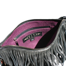 Load image into Gallery viewer, Fringe Bag - Dull Black Metallic