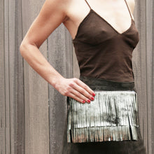Load image into Gallery viewer, Fringe Bag - Dull Brown Metallic