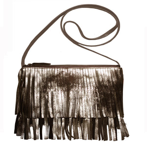 Fringe Bag - Dull Brown Metallic