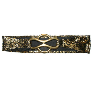 Infinity Waist Belt - Gold Baby Cheetah