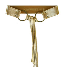 Load image into Gallery viewer, Fringe Belt -  Gold Metallic
