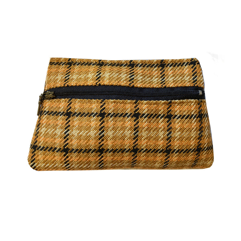 Cosmetic Bag - Golden Plaid 1974