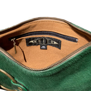 Ring Clutch - Kelly Green Fur