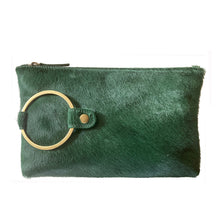 Load image into Gallery viewer, Ring Clutch - Kelly Green Fur