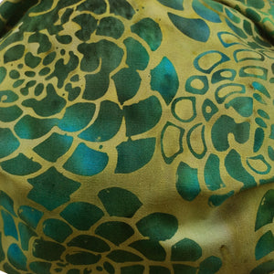 KW Mask - Green, Gold & Turquoise Abstract Floral