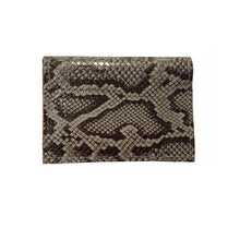 Load image into Gallery viewer, Folding Wallet - Grey Patent Snake