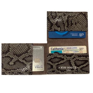 Folding Wallet - Grey Patent Snake