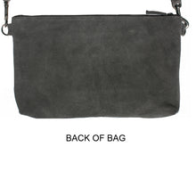 Load image into Gallery viewer, Laced Detail Bag - Grey Suede