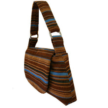 Load image into Gallery viewer, Large Shoulder Bag - Brown Stripe 1978
