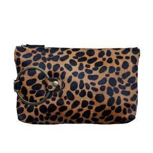 Ring Clutch - Leopard Fur