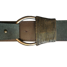 Load image into Gallery viewer, Cast Rope Belt - Loden Suede with Antique Brass