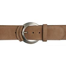Load image into Gallery viewer, Leather-Tipped Belt - Deer wAntique Nickel