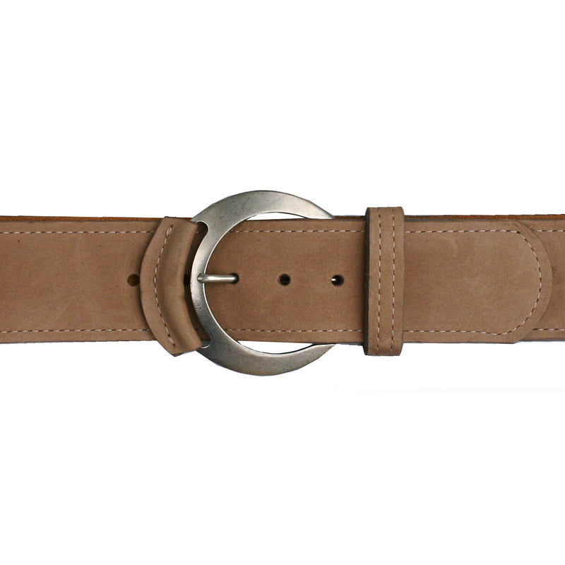 Leather-Tipped Belt - Deer wAntique Nickel