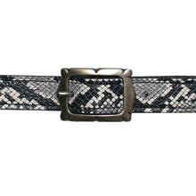 Load image into Gallery viewer, Mini Picture Frame Belt -B&W Snake