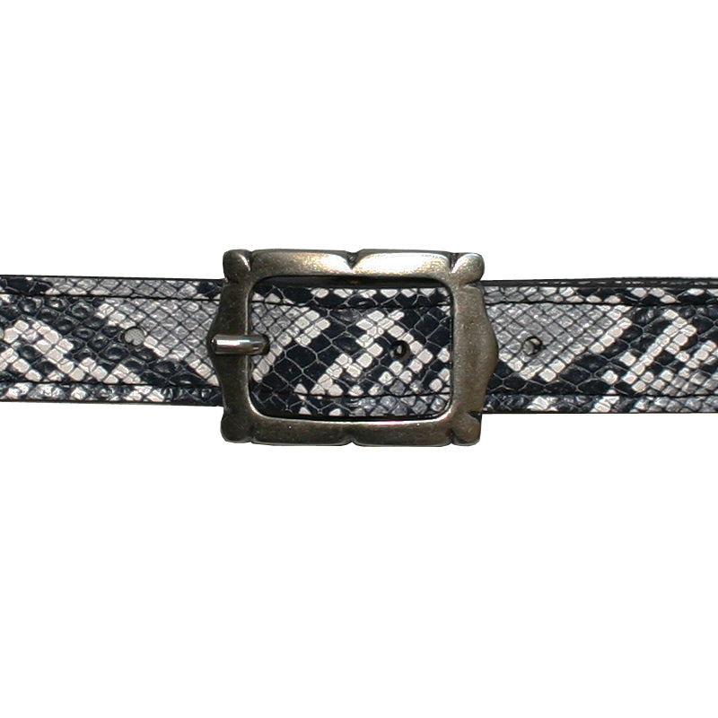 Mini Picture Frame Belt -B&W Snake