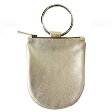 Load image into Gallery viewer, Mini Ring Wristlet - Ivory Metallic