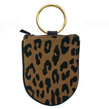 Load image into Gallery viewer, Mini Ring Wristlet - Leopard