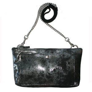 Patch Pocket Bag - Smoky Black Metallic