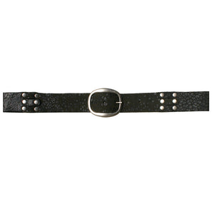Pieced & Riveted Belt - Black Animal