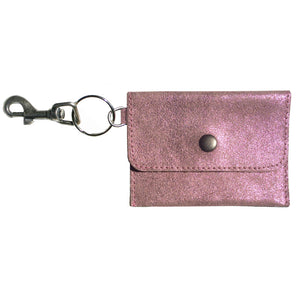 Coin Purse Key Chain - Pink Sparkly