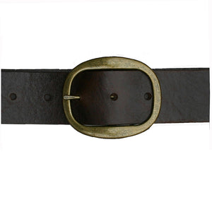 Heirloom Basic Belt - Chocolate with Antique Brass Buckle