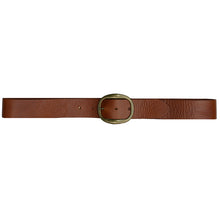 Load image into Gallery viewer, Heirloom Basic Belt - Cognac with Antique Brass Buckle