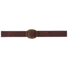 Load image into Gallery viewer, Heirloom Basic Belt - Rusty Brown with Antique Brass Buckle