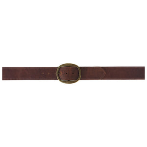 Heirloom Basic Belt - Rusty Brown with Antique Brass Buckle