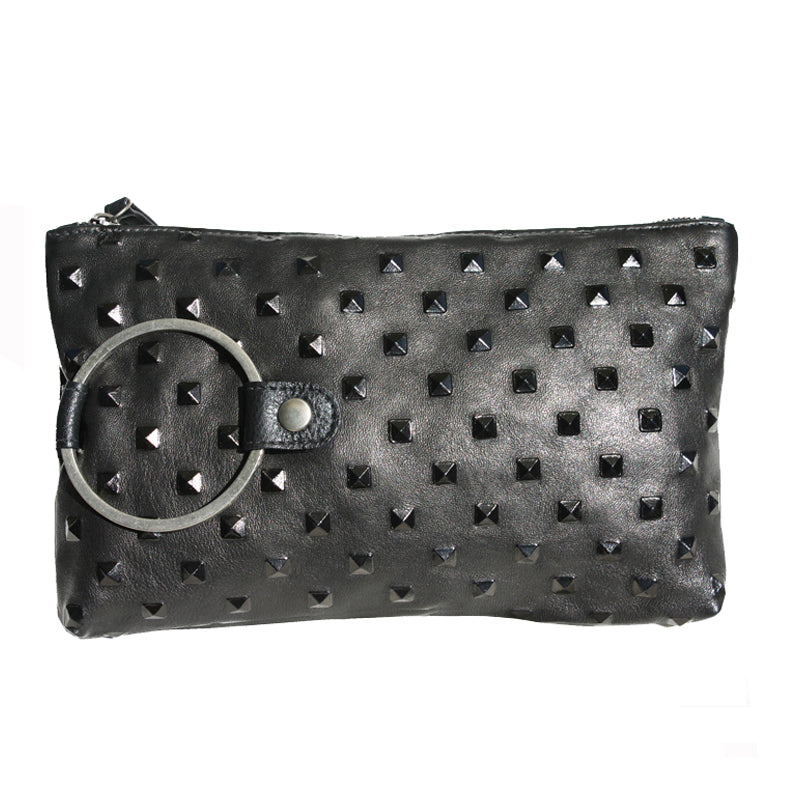 Ring Clutch - Black Pyramid