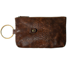 Load image into Gallery viewer, Ring Clutch - Cognac Snake