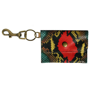 Coin Purse Key Chain - Colroful Snake