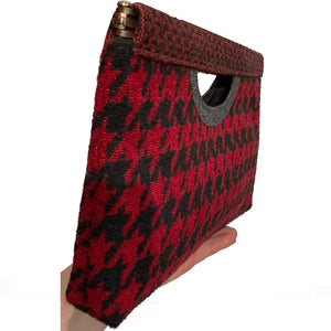 Cut-Out Clutch - Red & Black Chevron 1979