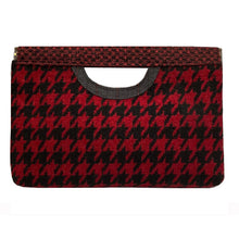 Load image into Gallery viewer, Cut-Out Clutch - Red & Black Chevron 1979