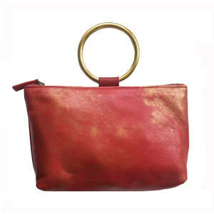 Ring Wristlet - Red & Gold Smoke