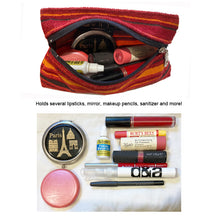 Load image into Gallery viewer, Cosmetic Bag - Golden Plaid 1974
