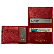 Load image into Gallery viewer, Folding Wallet - Red Metallic