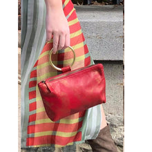Load image into Gallery viewer, Ring Wristlet - Red & Gold Smoke