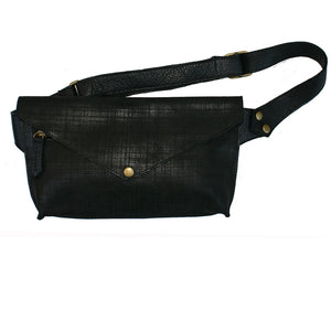Seam-Out Fanny Pack - Black Matte Crosshatch