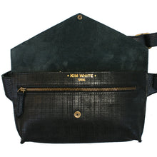 Load image into Gallery viewer, Seam-Out Fanny Pack - Black Matte Crosshatch