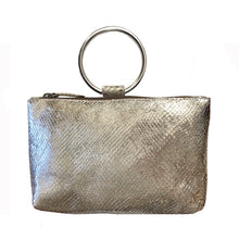 Load image into Gallery viewer, Ring Wristlet - Silver Snake Metallic