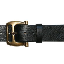 Load image into Gallery viewer, Slotted Buckle -Black wAntique Brass
