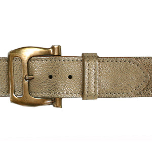 Slotted Buckle - Champagne Metallic
