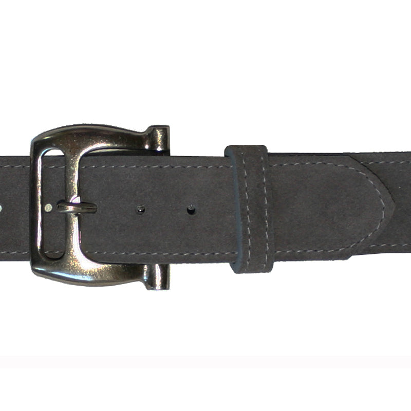 Slotted Buckle - Grey Suede