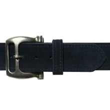 Load image into Gallery viewer, Slotted Buckle - Navy Suede