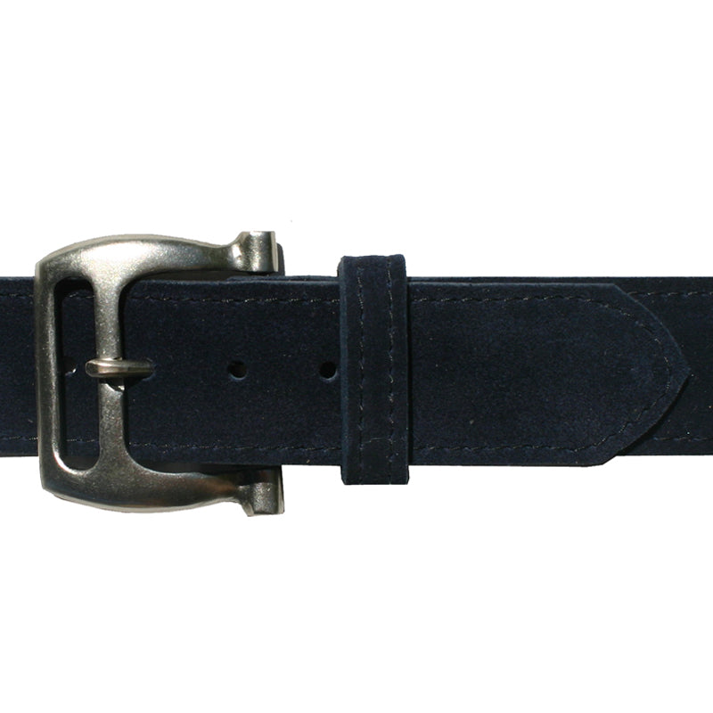 Slotted Buckle - Navy Suede